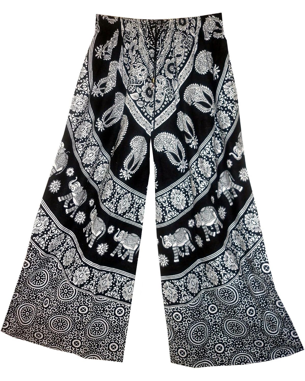 Indian Cotton Trouser Vintage Look Kjol Pant Boho Falda Women Gypsy Hippy Ethnic