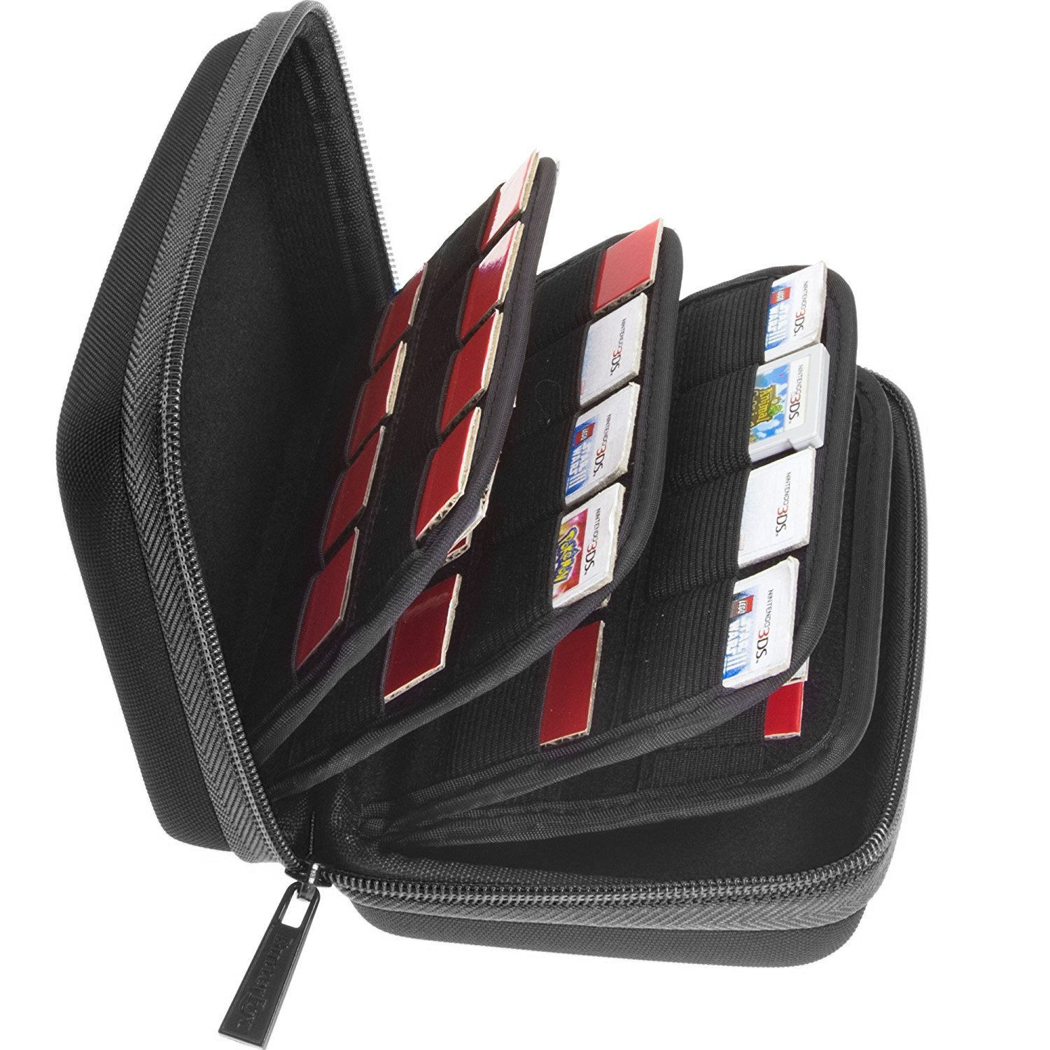Butterfox 64 Game Card Storage Holder Hard Case for Nintendo 3DS, 2DS and DS - Black