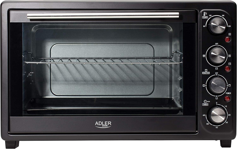 Adler AD 6010 Horno de sobremesa, 2000 W, 45 litros, 0 Decibeles, Negro: Amazon.es: Hogar