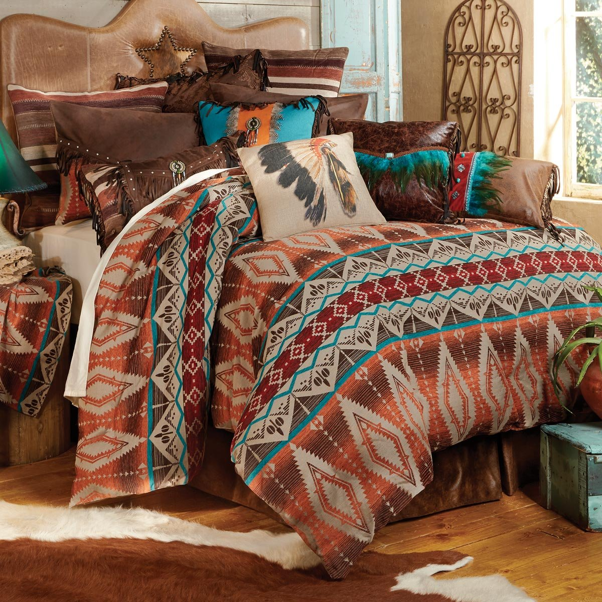 Brown and orange bedding - Amazon Com Sonoran Sky Western Bed Set King Southwestern Bedding Linens Home Kitchen