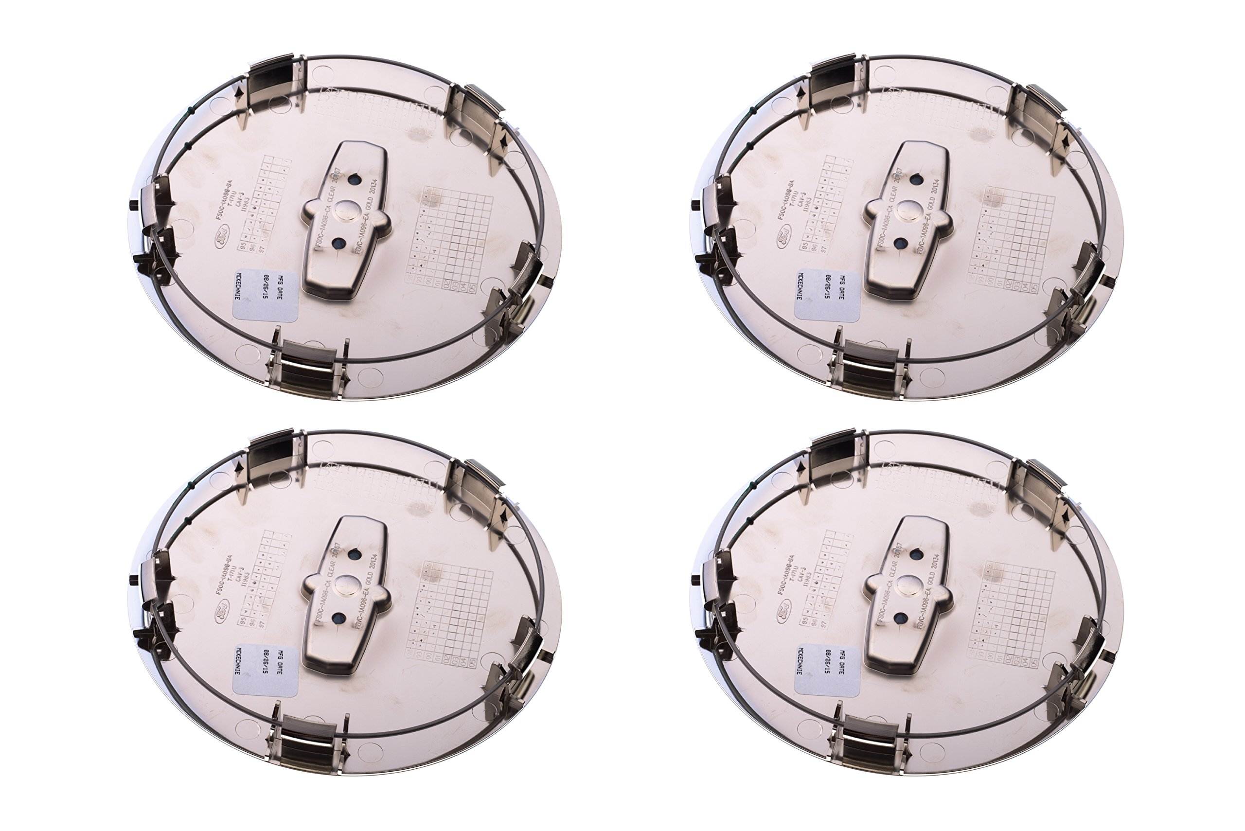 1998-2002 Lincoln Town Car Cartier Chrome Wheel Center Cap Hub Covers x4 OEM NEW by Ford (Image #2)