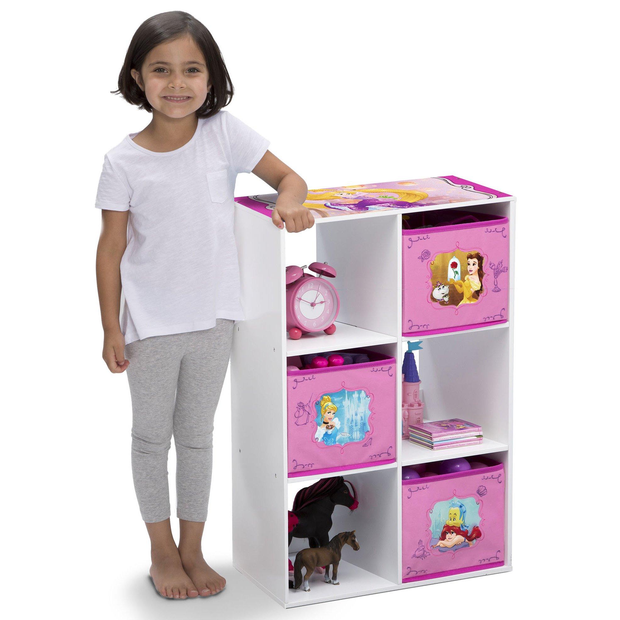 Delta Children 6 Cubby Storage Unit, Disney Princess by Delta Children (Image #2)