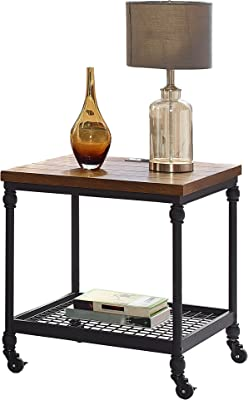Martin Furniture IMAI2222 End Table with Power, Brown