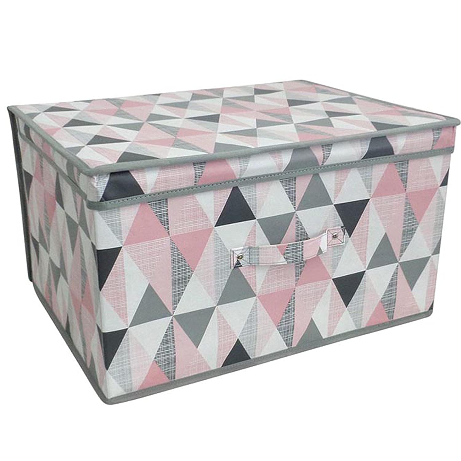 Purple Patchwork AQS Children Foldable Pop Up Large Storage Chest Toy Book Box Tidy Space Saver New
