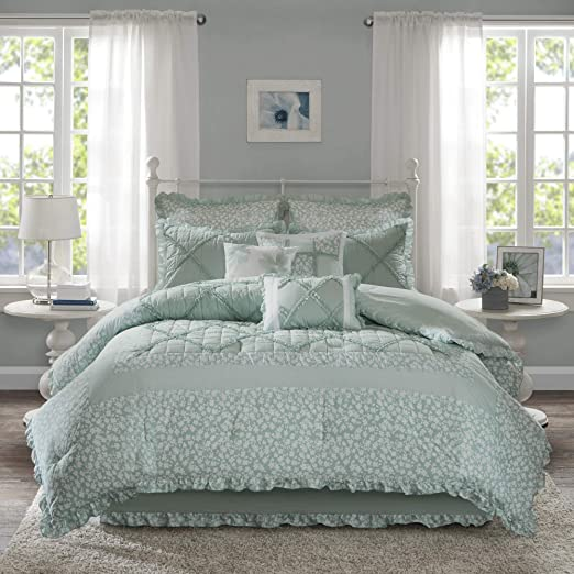 Amazon Com Madison Park Mindy King Size Bed Comforter Set Bed In