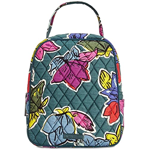 a2b353f6d909 Amazon.com  Vera Bradley Women s Lunch Bunch Falling Flowers One Size   Kitchen   Dining