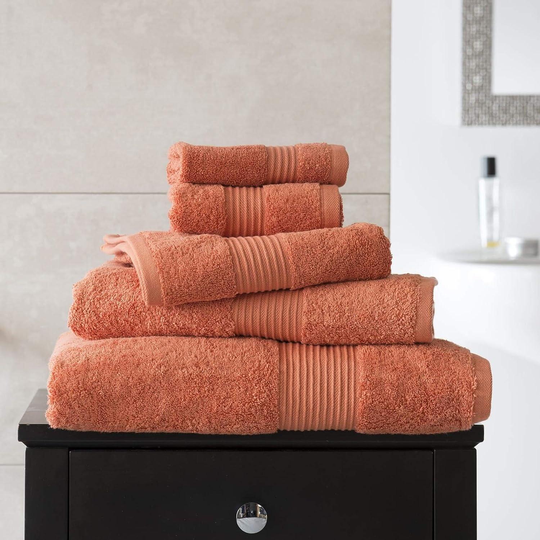 Deyongs 1846 Bliss 650gsm 100% Pima Cotton Towels - Burnt Orange (Guest Towel)
