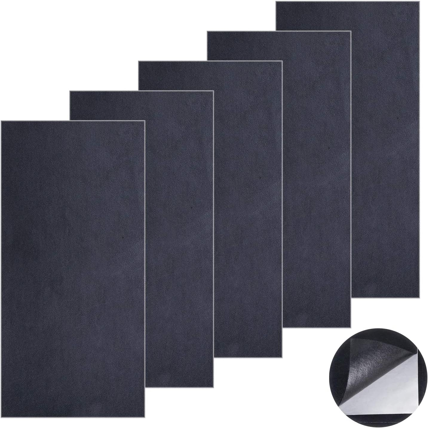5 Pcs Leather Repair Patch Adhesive Leather Patch First aid for Sofas Car Seats Handbags Jackets Dark Brown 10/×20 cm