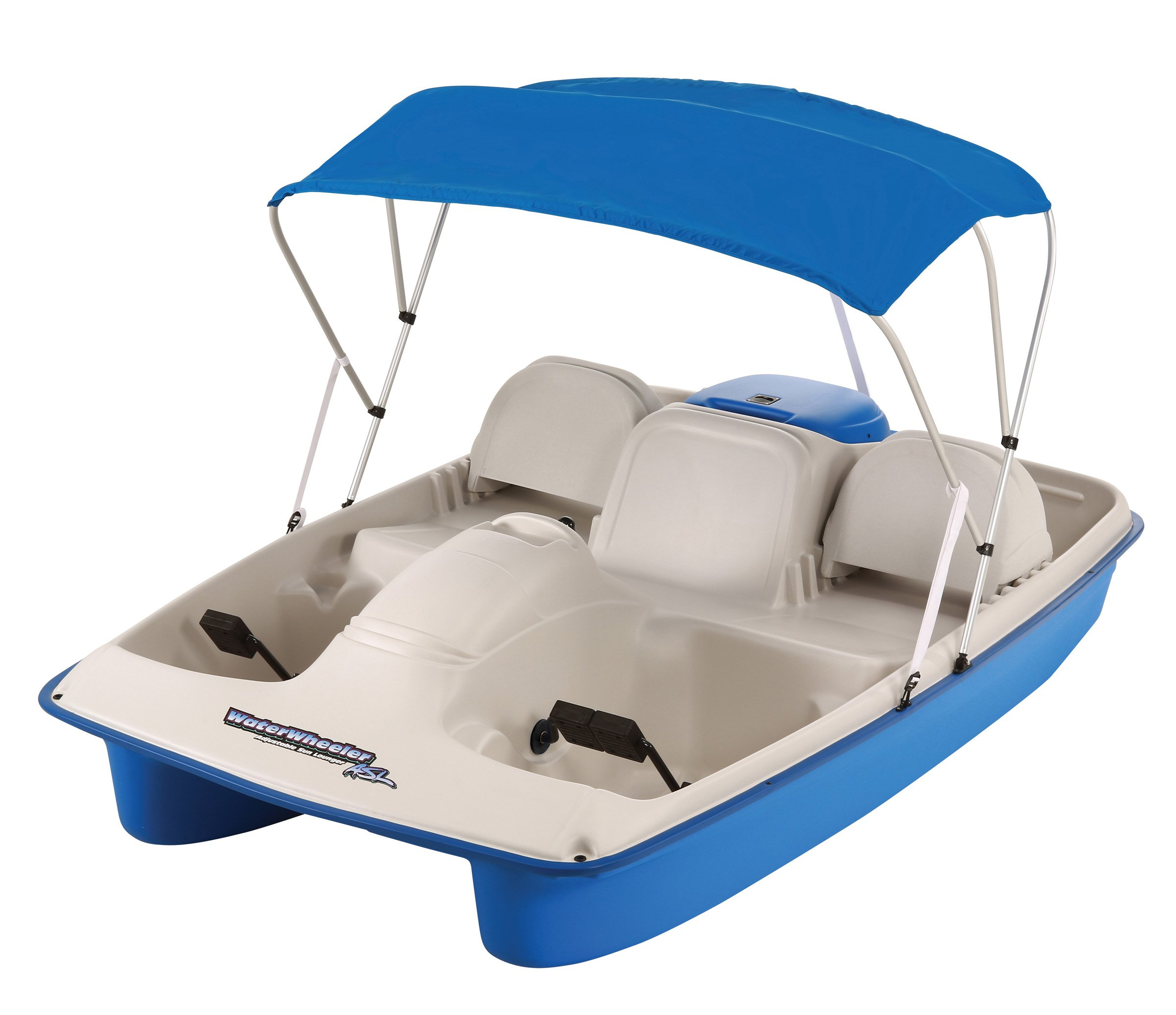 Sun Dolphin Water Wheeler Electric ASL 5 Person Pedal Boat with Canopy (Blue) by Sun Dolphin