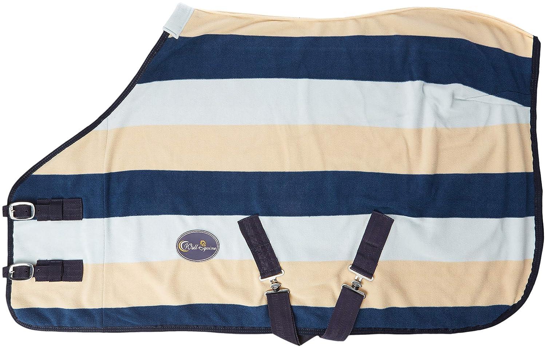 Cwell Equine Heavy Polaire Miniature Poney Rugs Bleu Marine/Bleu Ciel/crème Motif Show Rugs (3'15, 2cm)