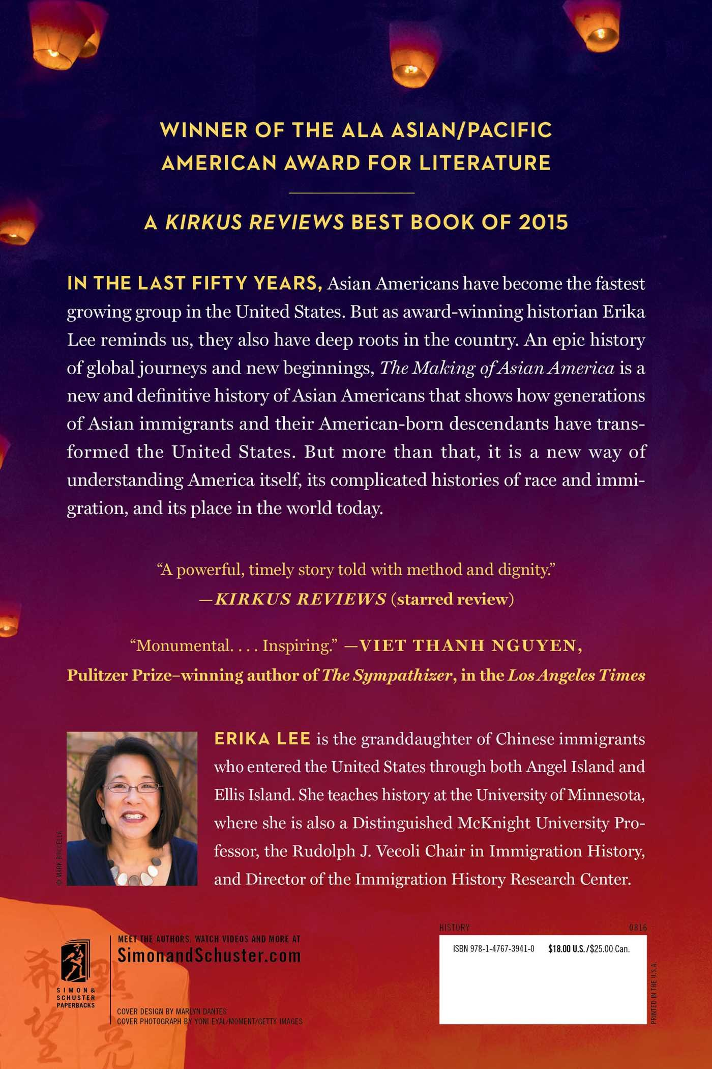 Amazon: The Making Of Asian America: A History (9781476739410): Erika  Lee: Books