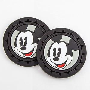 Plasticolor 001968R01 Disney Mickey Mouse 2pc Auto Coasters for Cars Trucks or SUV's