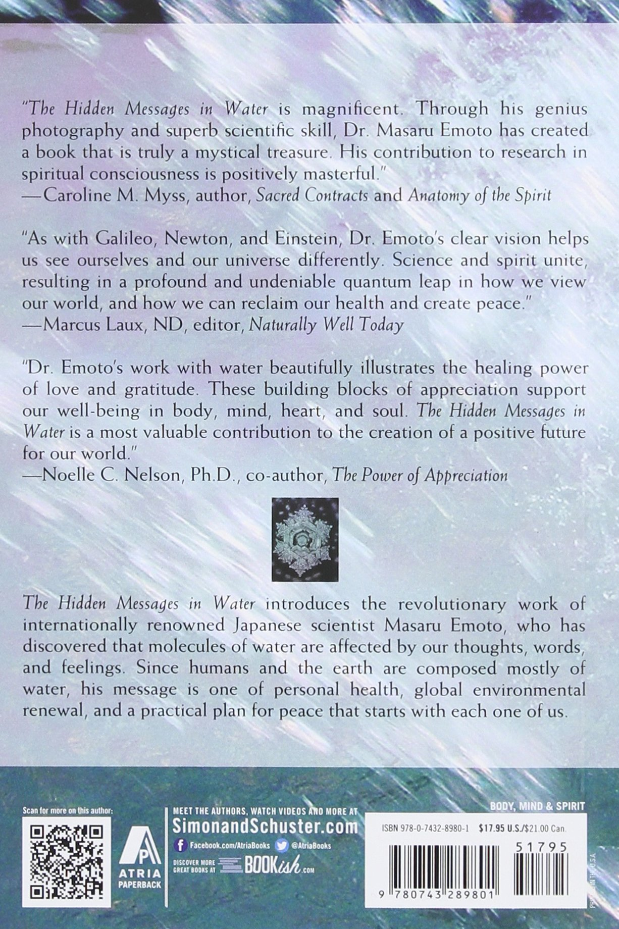 The Hidden Messages In Water Masaru Emoto 9780743289801 Amazon