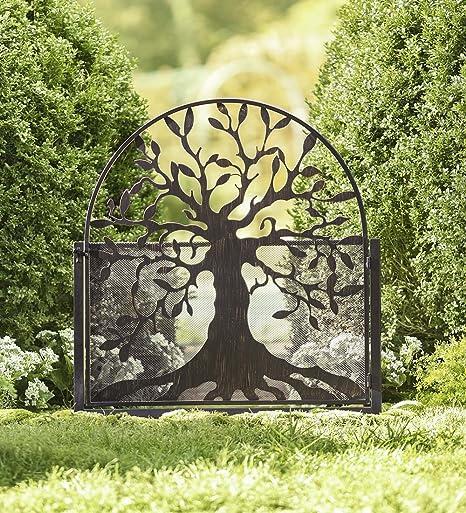Plow & Hearth Puerta de jardín de Metal con diseño de árbol de la ...