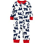 Carter's Baby Unisex Holiday Cotton Sleep & Play (9 Months, Blue Bears)