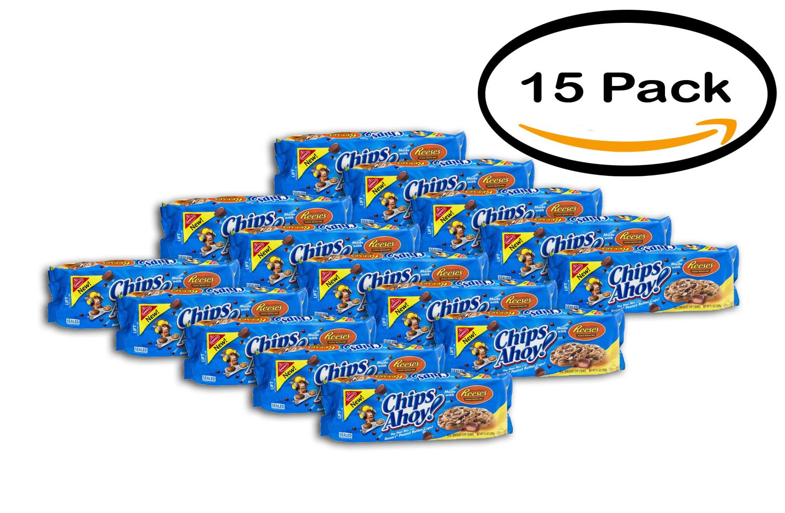 PACK OF 15 - Nabisco Chips Ahoy! Reese's Peanut Butter Cups Cookies, 9.5 OZ by Chips Ahoy!
