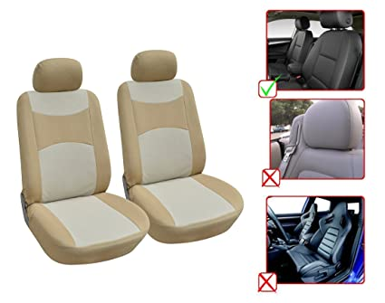 Fabulous Amazon Com Opt Brand Fabric 2 Front Car Seat Covers Caraccident5 Cool Chair Designs And Ideas Caraccident5Info