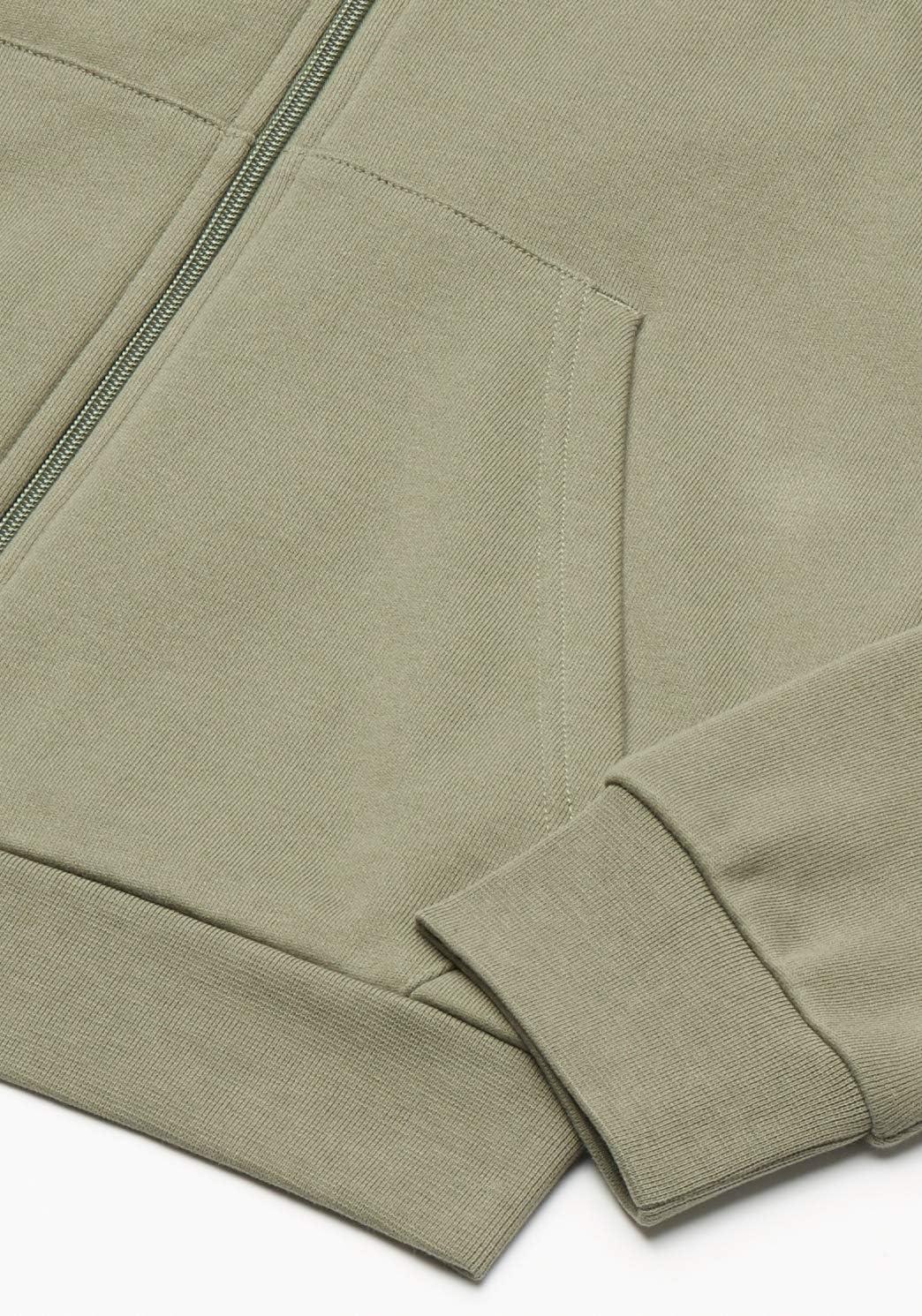 adidas Herren Diag Emb Fz Sweatshirt Legacy Green