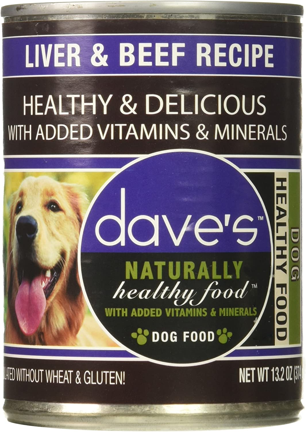 Dave'S Naturally Healthy, Liver & Beef For Dogs, 13.2 Oz Can (Case Of 12 )