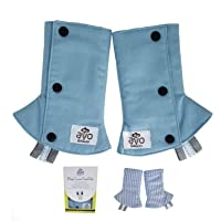 Reversible Baby Carrier Drool Suck Teething Pads Protect Carrier Straps Cover Washable with Toy Tags Premium Soft Cotton…