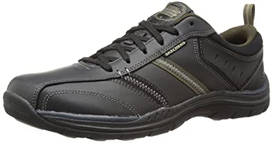 Many Colors Men Skechers Relaxed Fit Devention Oxford Black/Brown/Tan - K4Y14D1413