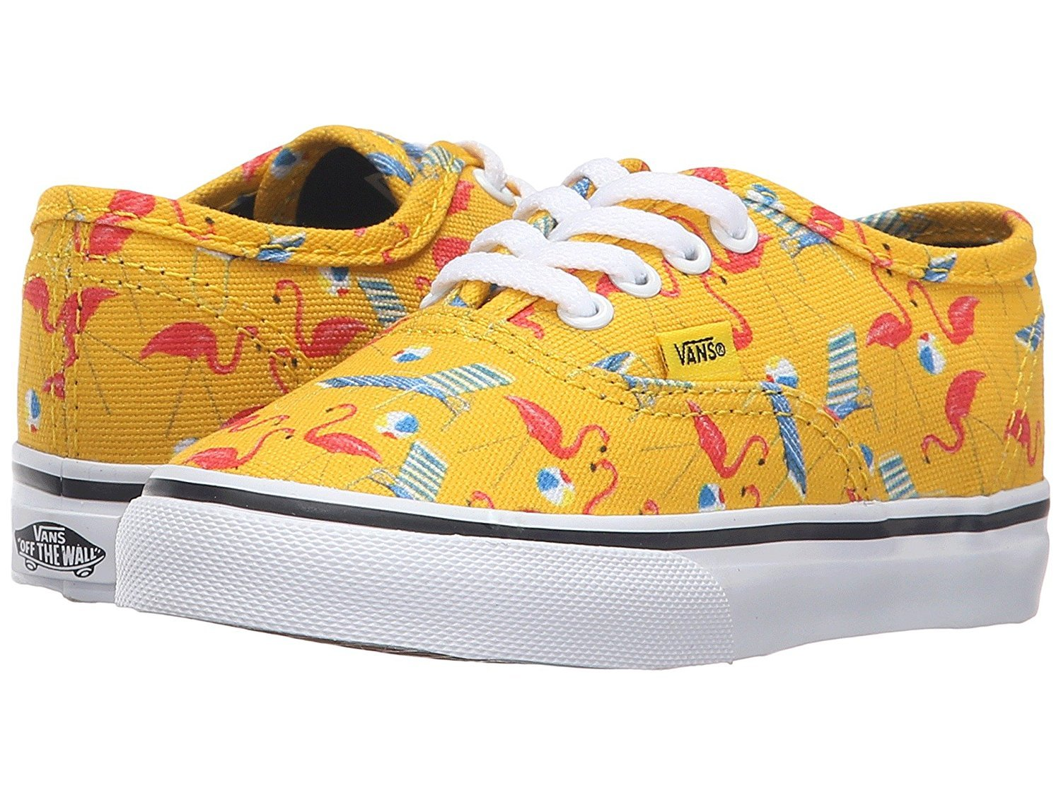 7dfe72b349 Galleon - Vans Toddlers Authentic Pool Vibes Skate Shoes (Cyber Yellow    True White) (7.5 Toddler M)