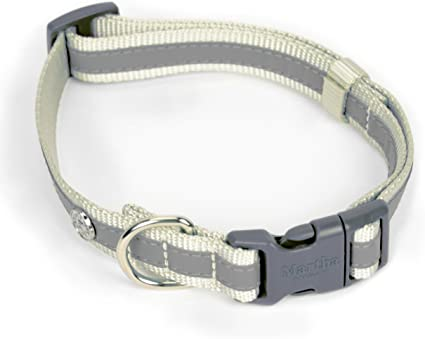Size 14 Blue Martha Stewart Classic Webbing with Overlay Collar for Dogs