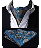 Enlision アスコットタイ メンズ 結婚式 アスコットタイ ポケットチーフ ビジネス スカーフ フォーマル 手结び ネクタイ 紳士 洗濯可能 花柄 ペイズリー柄