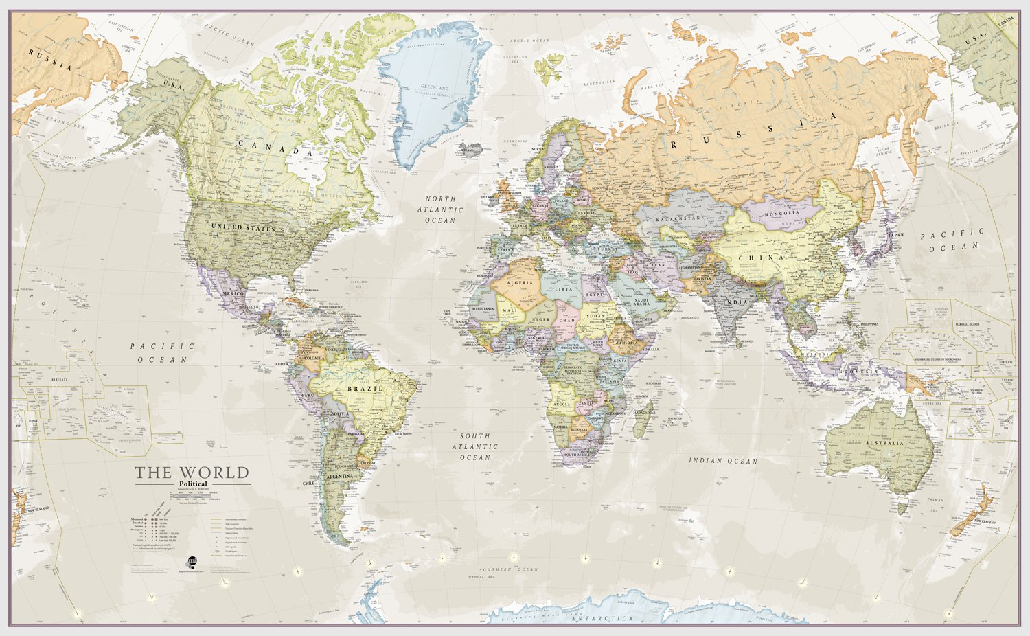 Huge classic world map political poster laminated encapsulated huge classic world map political poster laminated encapsulated 197cm w x 1165cm h amazon kitchen home gumiabroncs Images