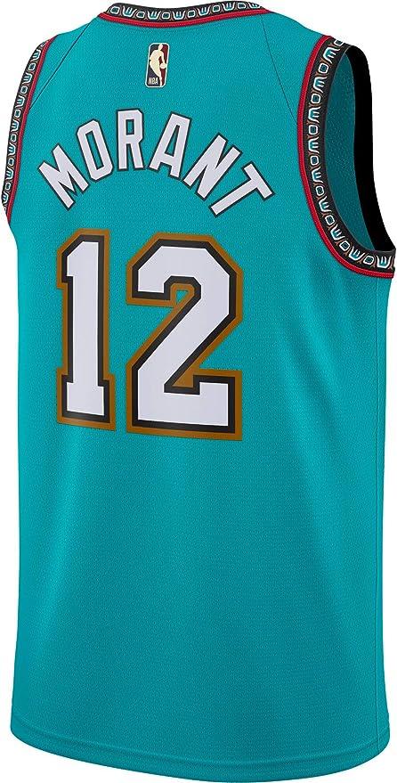 S-2XL # 12 Grizzlies JR Morant New City Edition Basketball Jersey Moda para Hombre Secoraci/ón R/ápida Sweetshirt