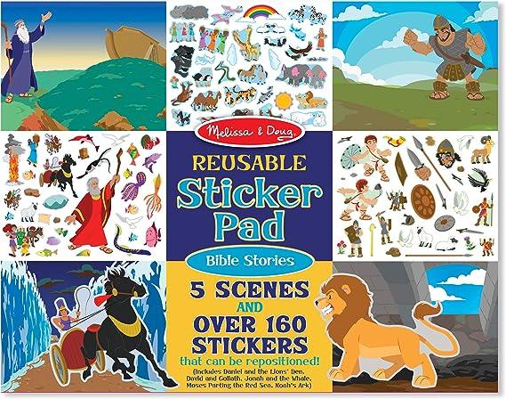 Melissa & Doug 9124 Bible Stories Reusable Sticker Pad