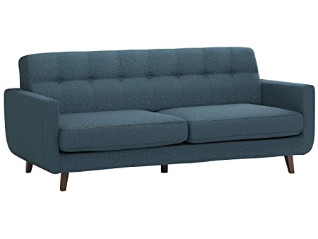 Rivet Sloane Mid-Century Modern Tufted Sectional Sofa Couch, 79.9 W, Denim