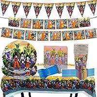 Party Supplies, Miotlsy 85 Piezas Dragon Ball Decoración Happy Birthday Party Vajilla Decoraciones de Vajilla con…