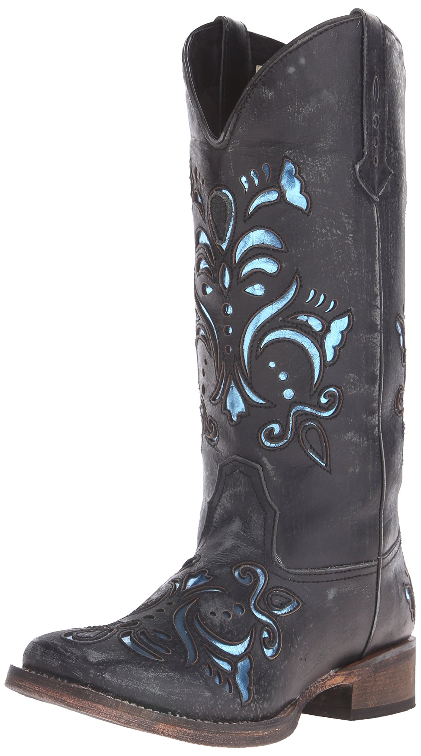 Roper Women's Belle Western Boot, Black, 7 M US