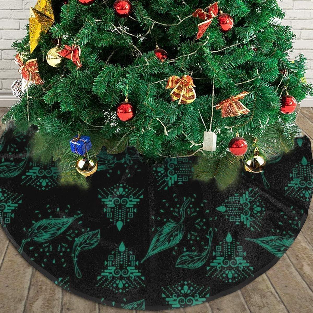 Green Christmas Tree Ideas 2020 Amazon.com: Christmas Tree Skirt, Dark Green Rustic Or Stylish