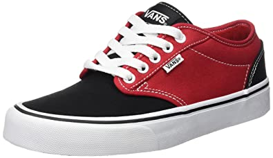 vans shoes red and black. vans atwood men shoes (2 tone) skate sneakers (8) red and black amazon.com
