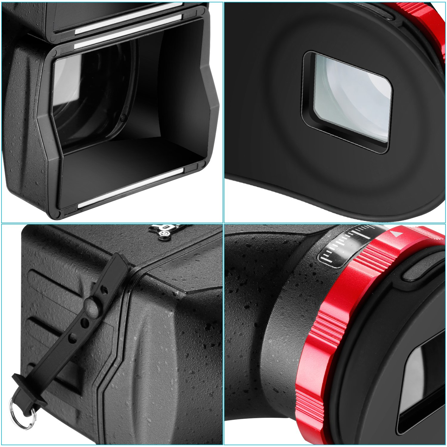 Neewer S7 3-in-1 Pro Optical Viewfinder,Screen Protector,Sunshade Hood with 3X Magnification for Sony A7RII, A7II, A7, A7R, A7M2, A7R2, A7M3, A7R3, A7s, A7s2, A7s3 and Other DSLRs with 3'' LCD Screen by Neewer (Image #5)