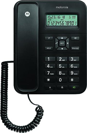 Motorola CT202C - Teléfono fijo analógico (manos libres, capacidad ...
