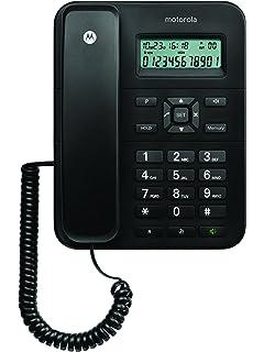 Motorola CT202C - Teléfono fijo analógico (manos libres, capacidad de 30 contactos),
