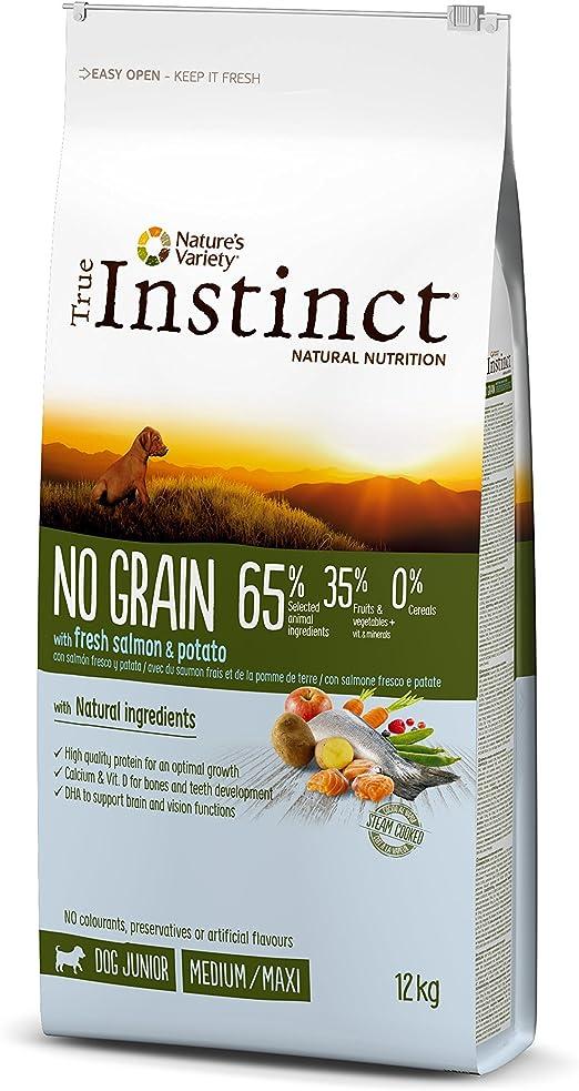 Oferta amazon: True Instinct No Grain - Pienso sin Cereales para Perro Junior Medium-Maxi con Salmón - 12kg