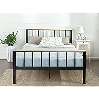 Zinus Brianne Metal and Wood Platform Bed, Twin