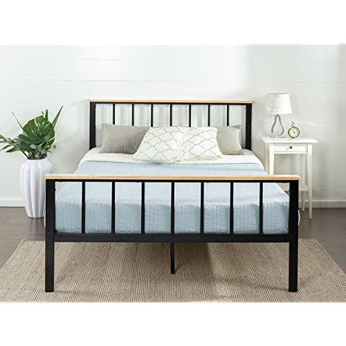 King Bed Frame Wood Amazon Com