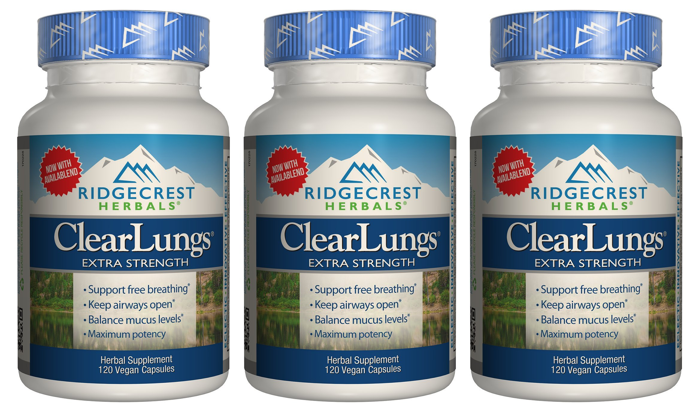 Clear Lungs Extra Strength - 120 Capsules - 3 Pack