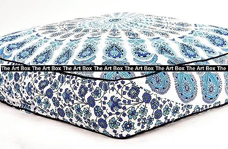 The Art Box-Indian Mandala - Almohada de suelo cuadrada ...