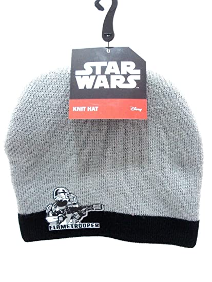 2ac5407ddee Amazon.com  Flametrooper Star Wars Grey and Black Beanie Knit Hat   Everything Else