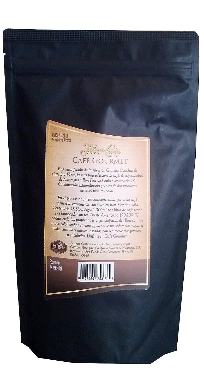 Amazon.com : Flor De Caña Gourmet Coffee Flavored with Rum 18yrs (Premium Ground Coffee) : Grocery & Gourmet Food