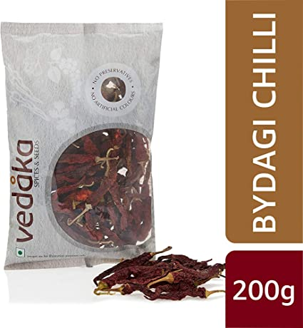 Amazon Brand - Vedaka Bydagi Chilli, 200g