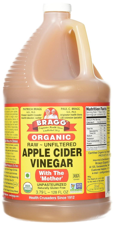 Bragg Organic Unfiltered Apple Cider Vinegar Raw 128 Ounce