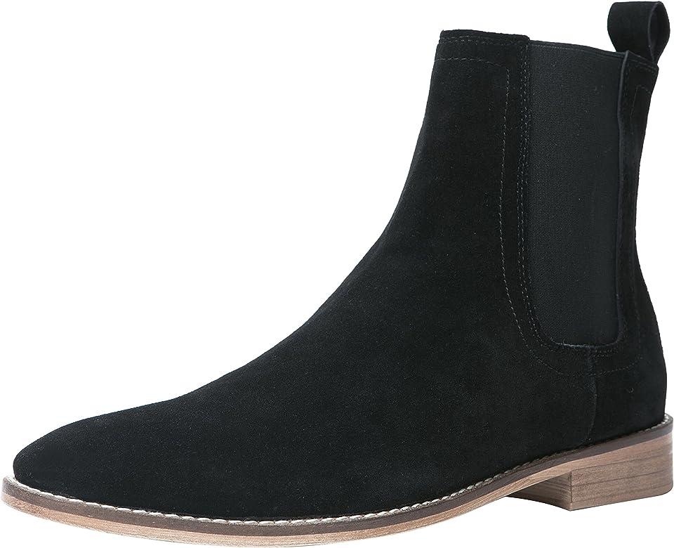 Santimon Chelsea Boots Men Suede Casual
