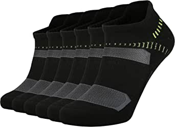 ONKE Unisex 6 Pairs of Moisture Wicking Cushion Performance Tab Ankle Running No Show Socks for Women Men